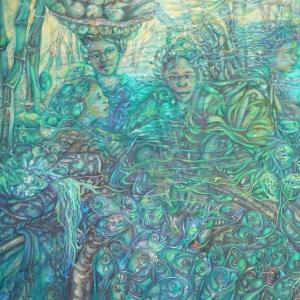 Bamboo Market Cambodia - Dina Chhan Cambodian Painter