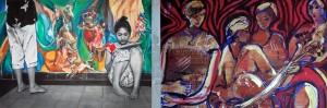 Asian painter and sculptor Dina Chhan mixes paint with photography