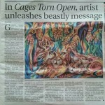 Cambodian Artist Sculptor and Painter Dina Chhan in Phnom Penh Post