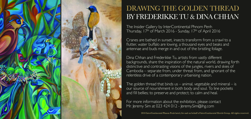Dina Chhan Frederikke Tu Exhibition at Intercon Hotel Phnom Penh Cambodia