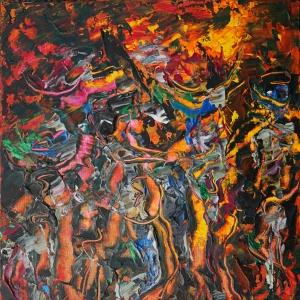 Labyrinth - Dina Chhan Cambodian Painter